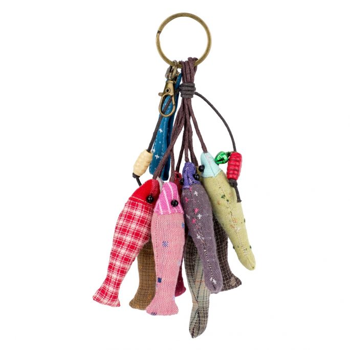 Keyring Shoal Of Fish Made With Cotton by JOE COOL