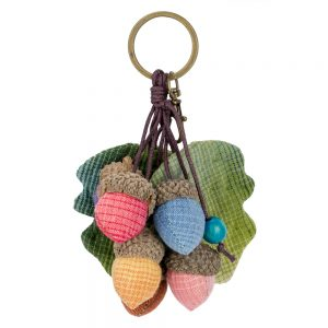 Keyring Acorns Made With Cotton & Iron by JOE COOL