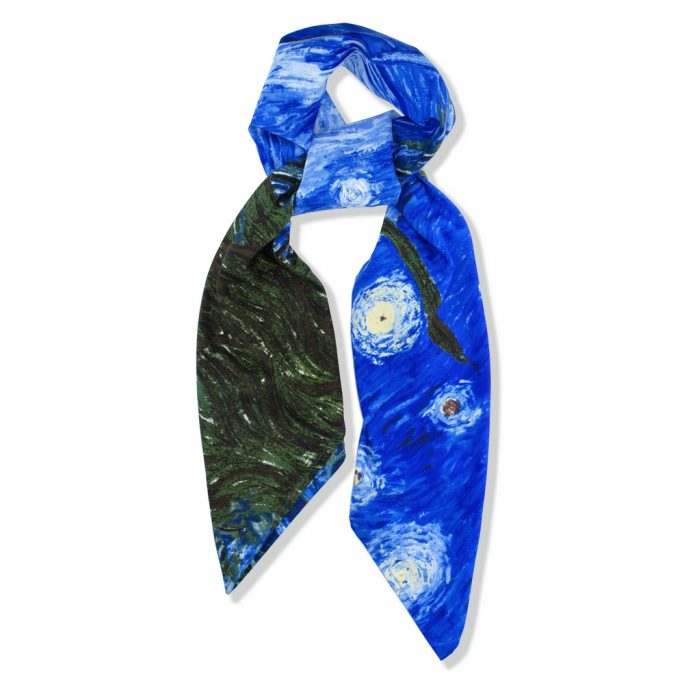 Scarf Starry Night By Van Gogh Made With Polyester by JOE COOL