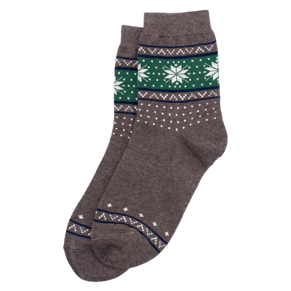 Socks Scandi Snowflake Made With Cotton & Spandex by JOE COOL