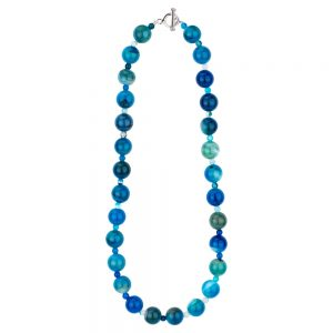 Necklace Large Bead Made With Agate by JOE COOL