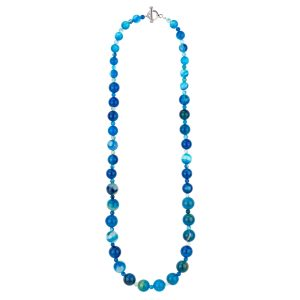 Necklace Graduated Bead Made With Agate by JOE COOL