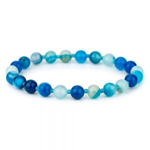 Bracelet Stretch Bead 4mm Made With Agate by JOE COOL