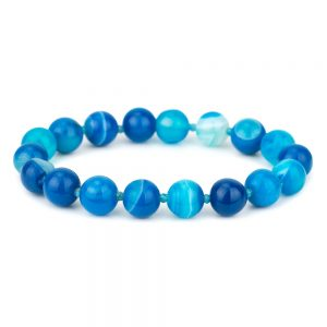 Bracelet Stretch Bead 8mm Made With Agate by JOE COOL