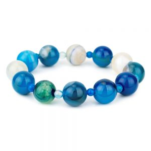 Bracelet Stretch Bead 12mm Made With Agate by JOE COOL