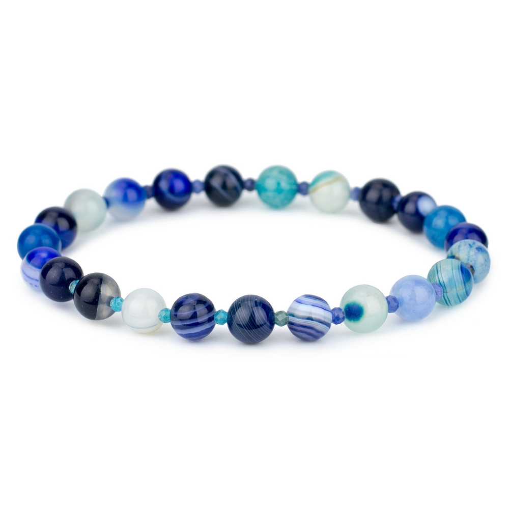 Bracelet Stretch Bead 4 Mm Made With Agate by JOE COOL