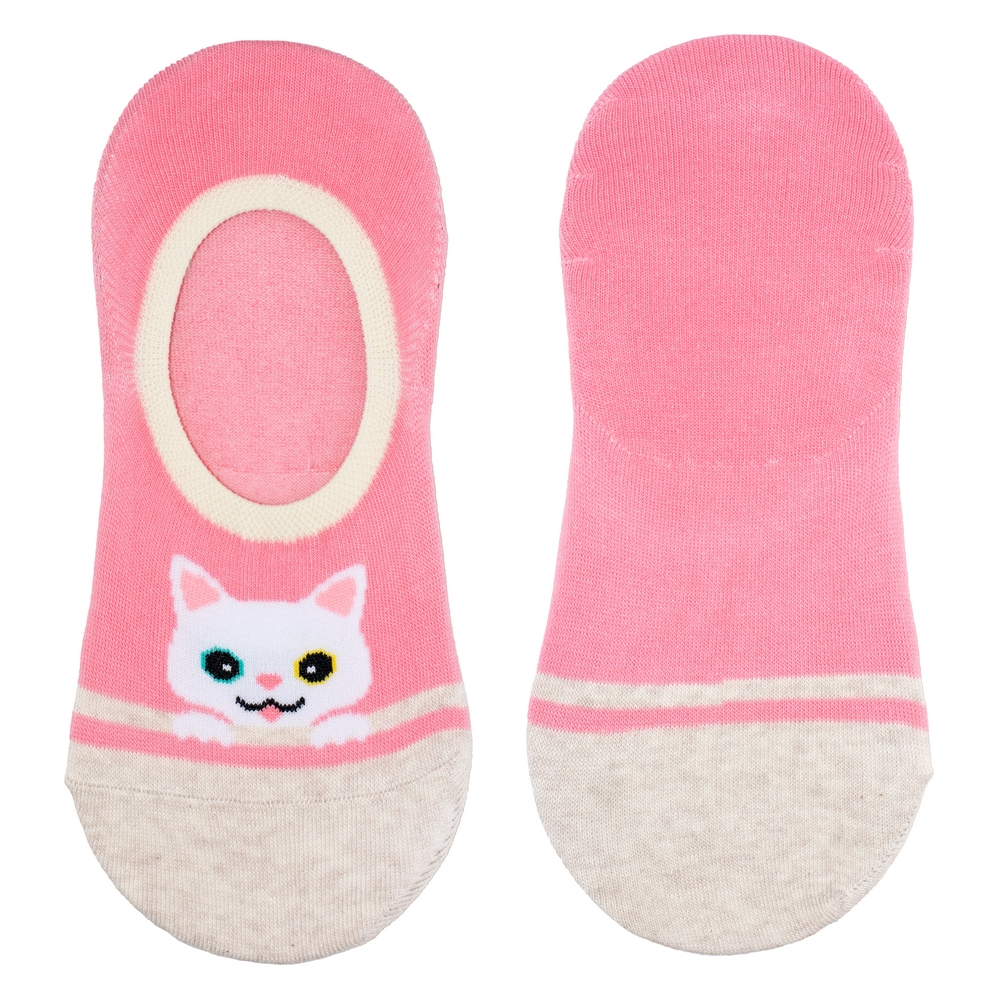 Socks No-show Peekaboo Cat Made With Cotton & Spandex by JOE COOL