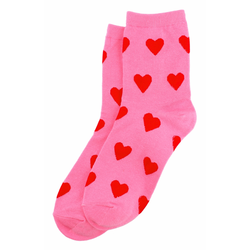 Socks Power Of Love Hearts Made With Cotton & Spandex by JOE COOL