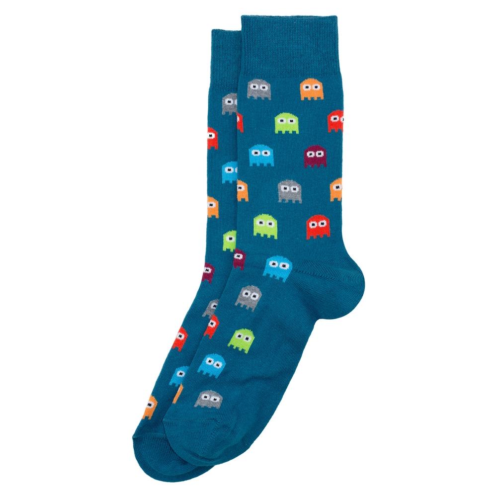 Socks Gents Arcade Ghost Made With Cotton & Polyester by JOE COOL