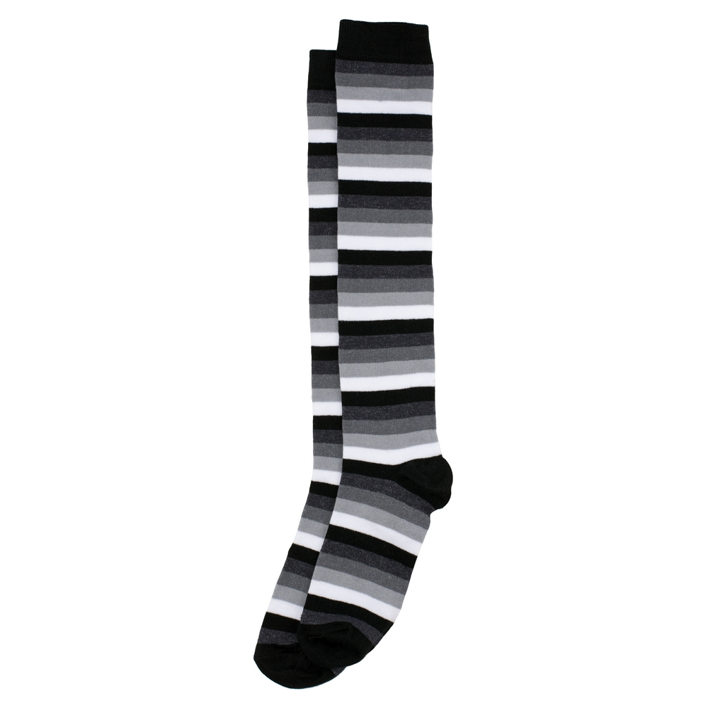 Socks Knee High Monochrome Stripe Made With Cotton & Polyester by JOE COOL