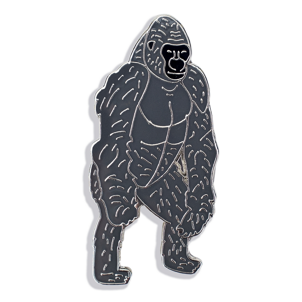Clutch Pin Brooch Gorilla Made With Iron by JOE COOL
