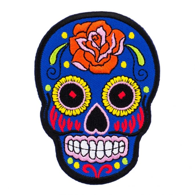 Patch Day Of The Dead Made With Cotton by JOE COOL
