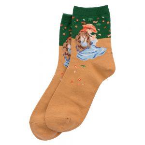 Socks Renoir Marie-thérèse Durand-ruel Made With Cotton & Spandex by JOE COOL
