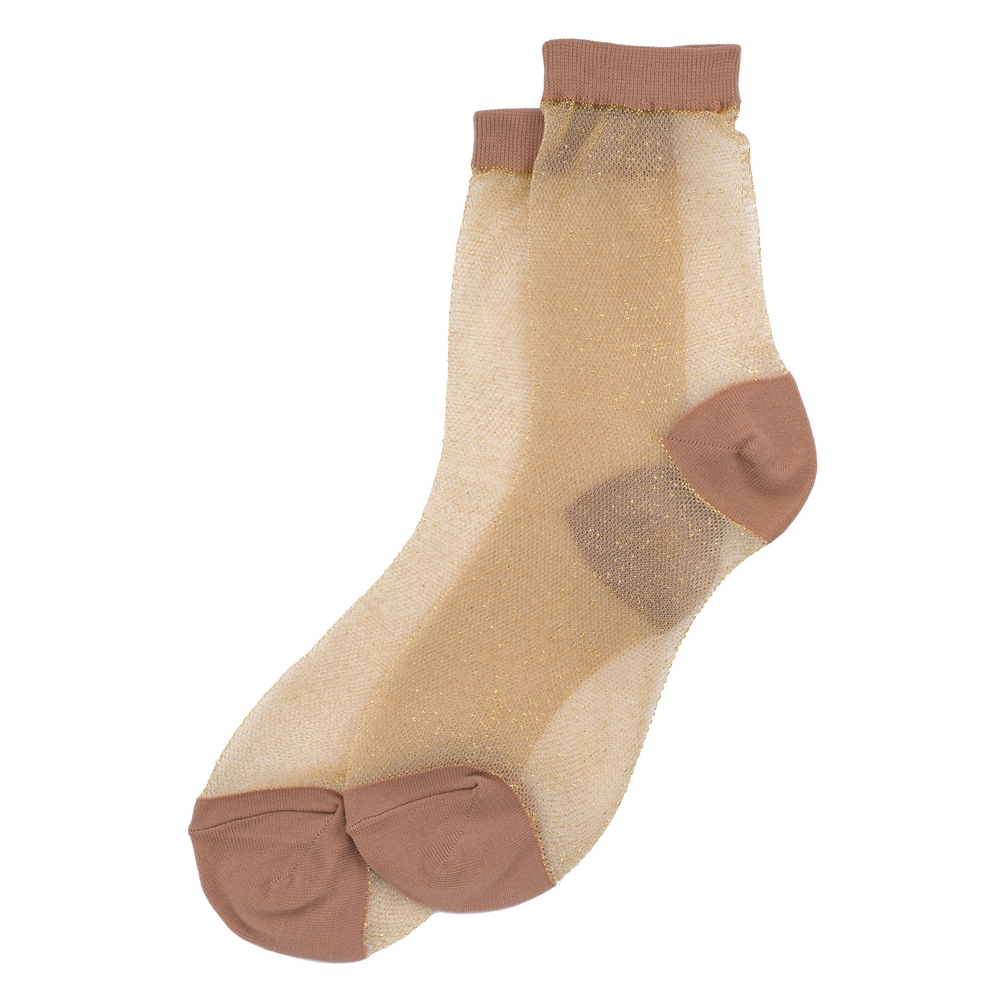 Socks Sheer Jacquard Made With Cotton & Spandex by JOE COOL