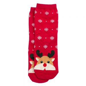 Socks Hello Reindeer Made With Cotton & Spandex by JOE COOL