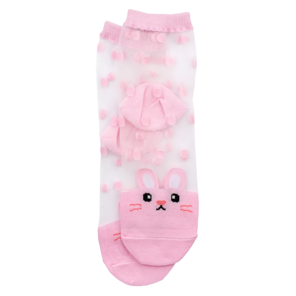 Socks Sheer Rabbit Made With Cotton & Spandex by JOE COOL
