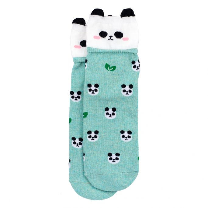 Socks Happy Panda Made With Cotton & Spandex by JOE COOL