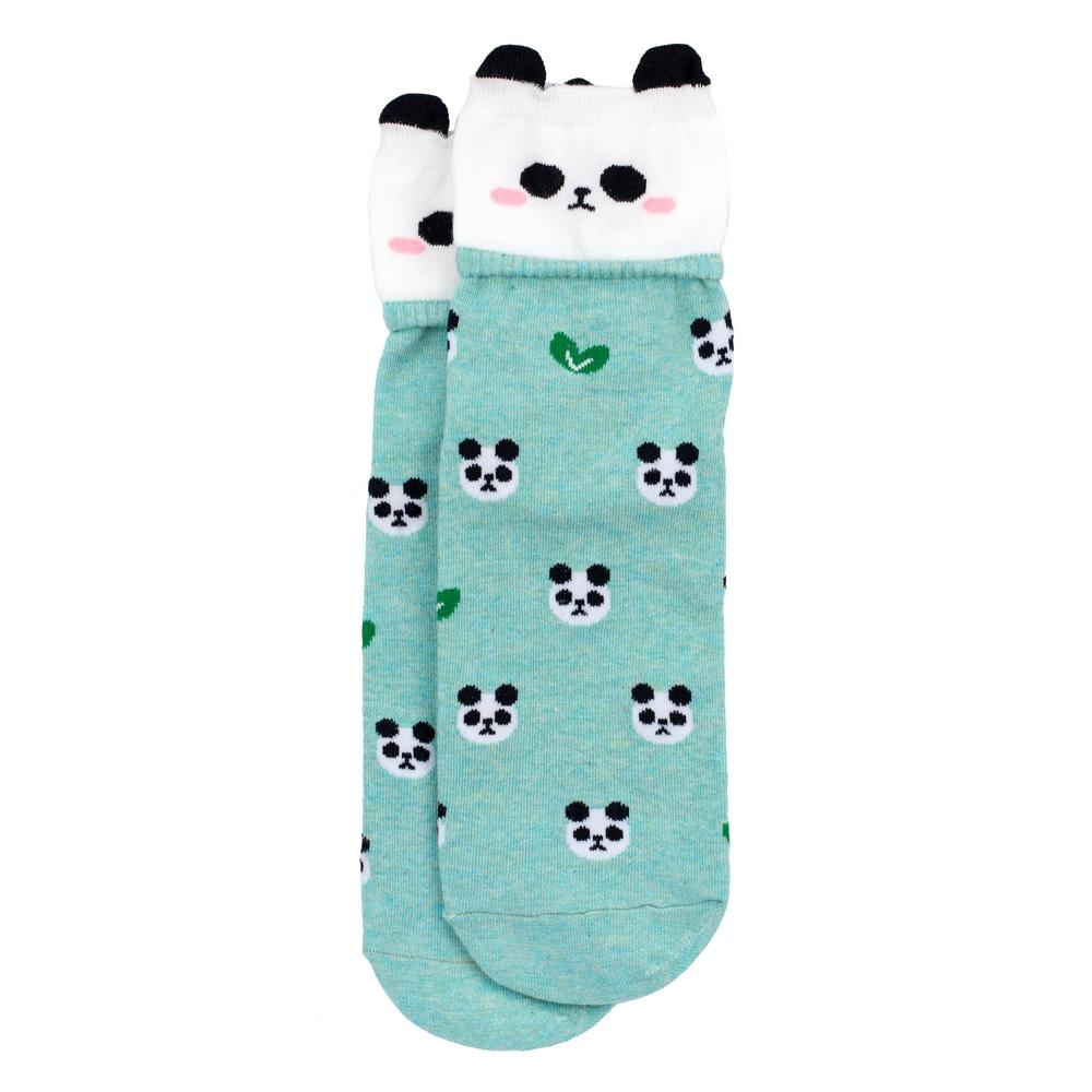 Socks Happy Panda Made With Cotton & Spandex by JOE COOL
