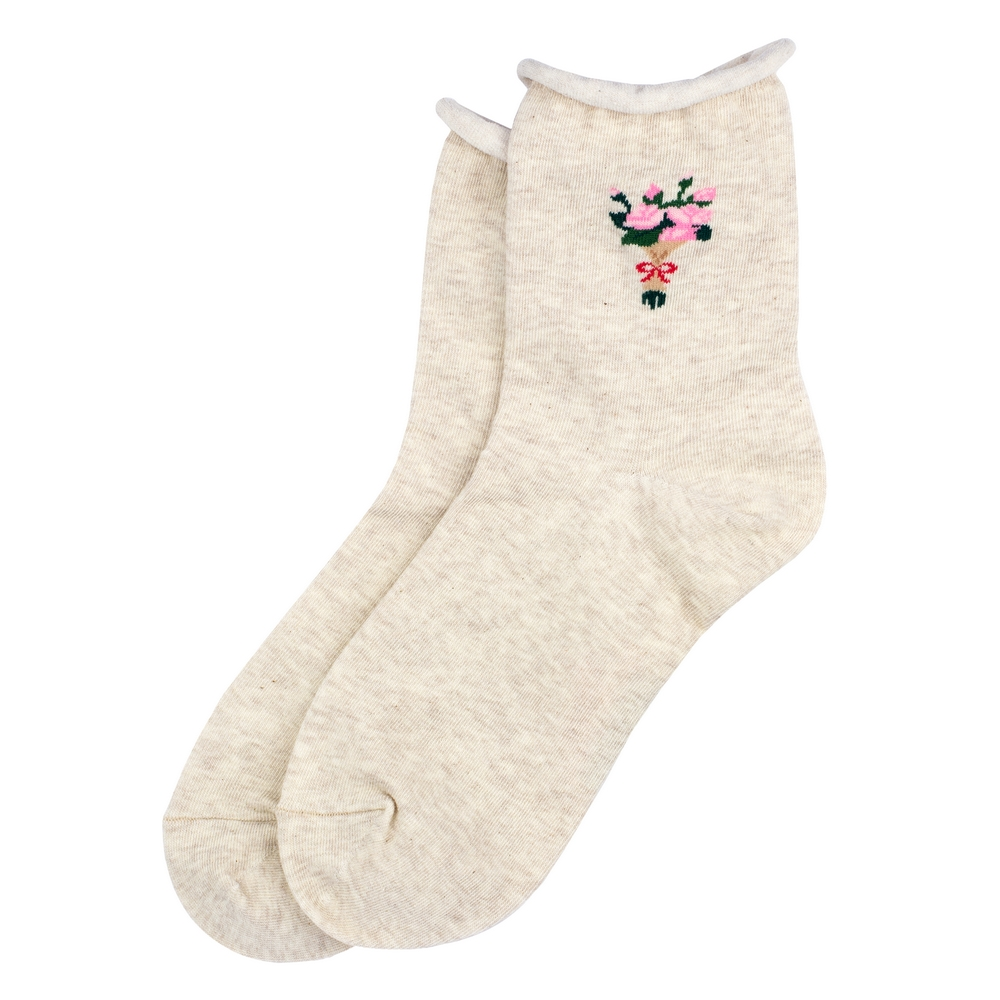 Socks Roses Made With Cotton & Spandex by JOE COOL
