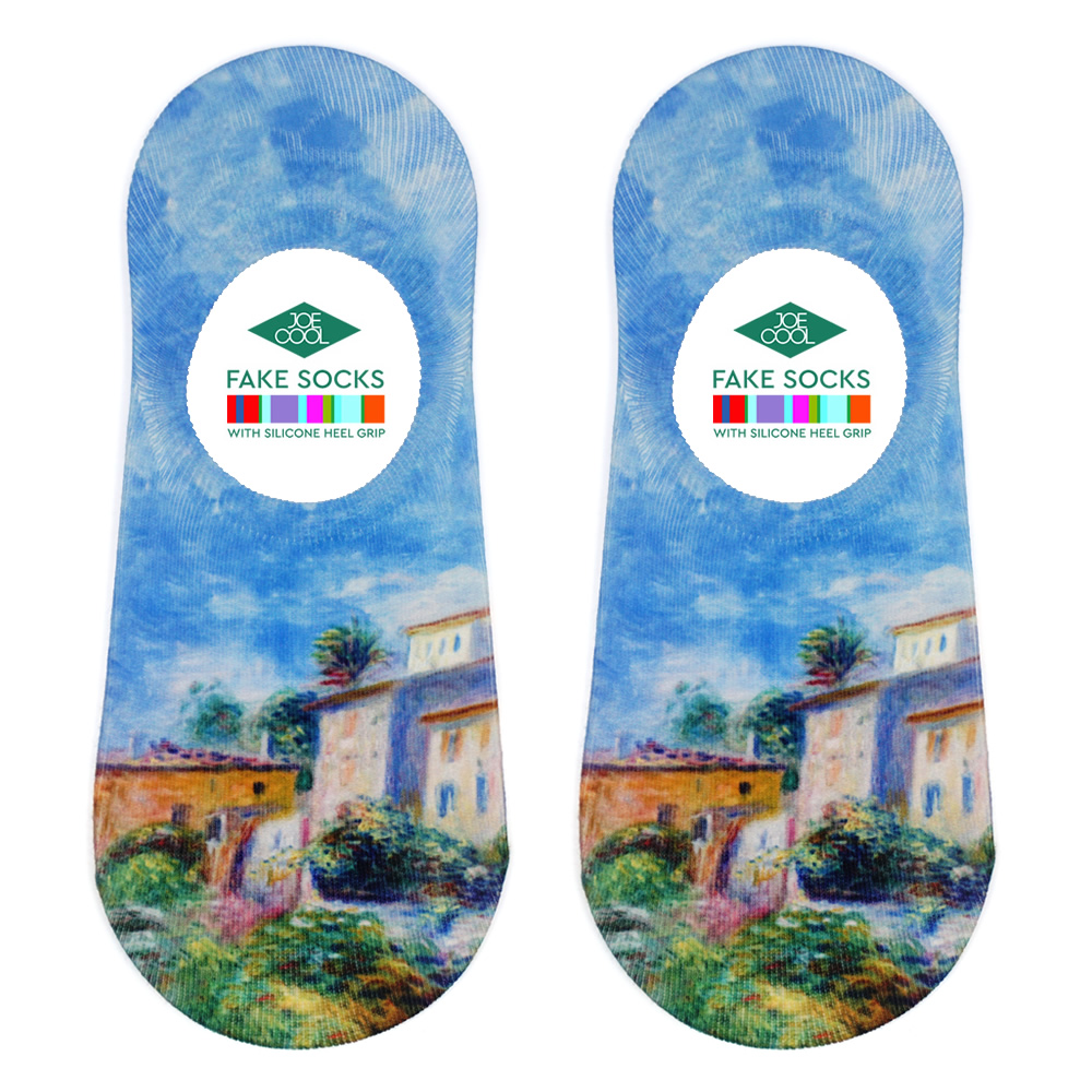 Socks No-show Renoir Vue De La Poste À Cagnes Made With Nylon & Polyester by JOE COOL
