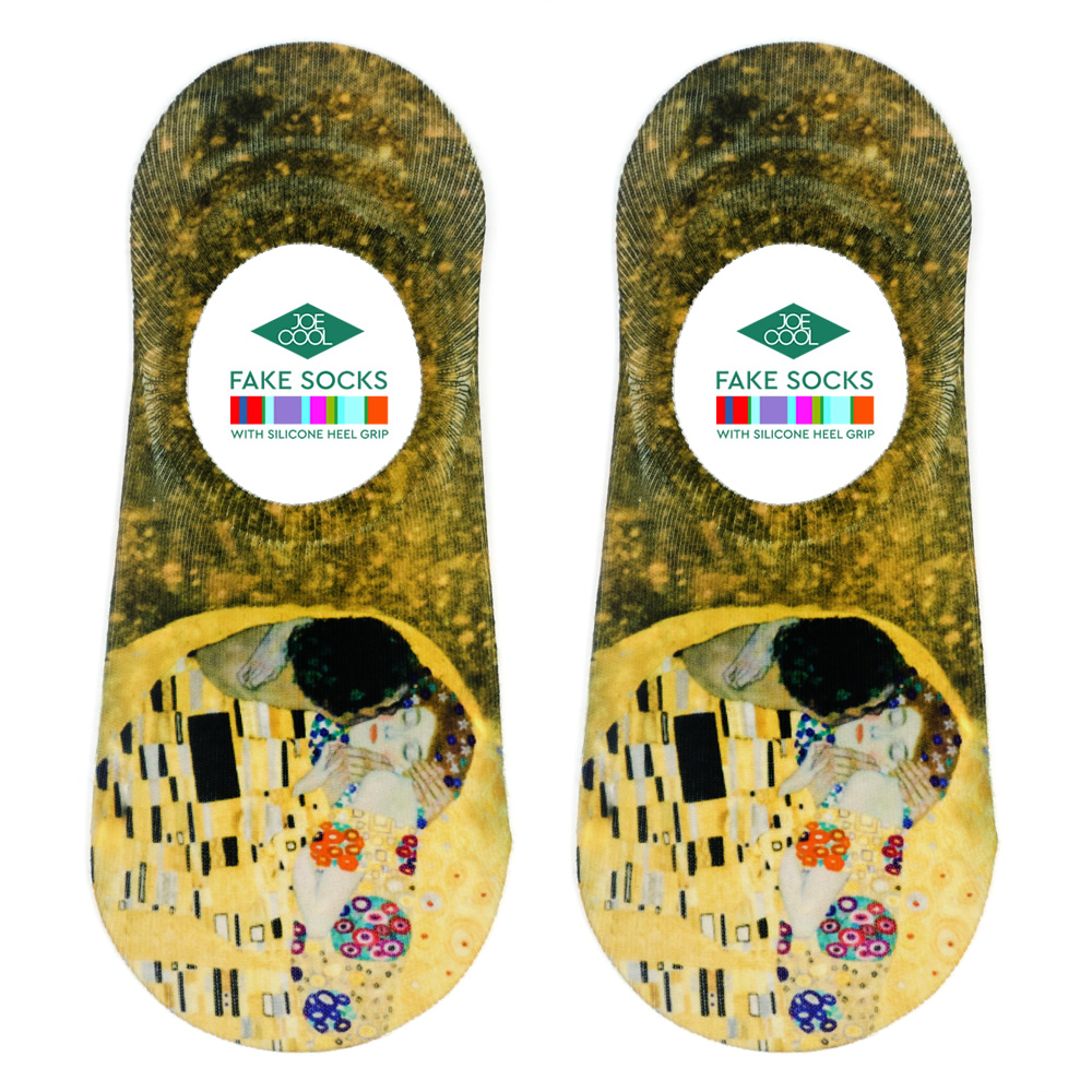 Socks No-show Klimt The Kiss Made With Nylon & Polyester by JOE COOL