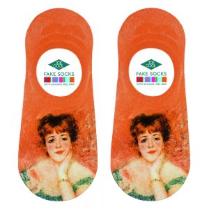 Socks No-show Renoir Jeanne Samary Made With Nylon & Polyester by JOE COOL