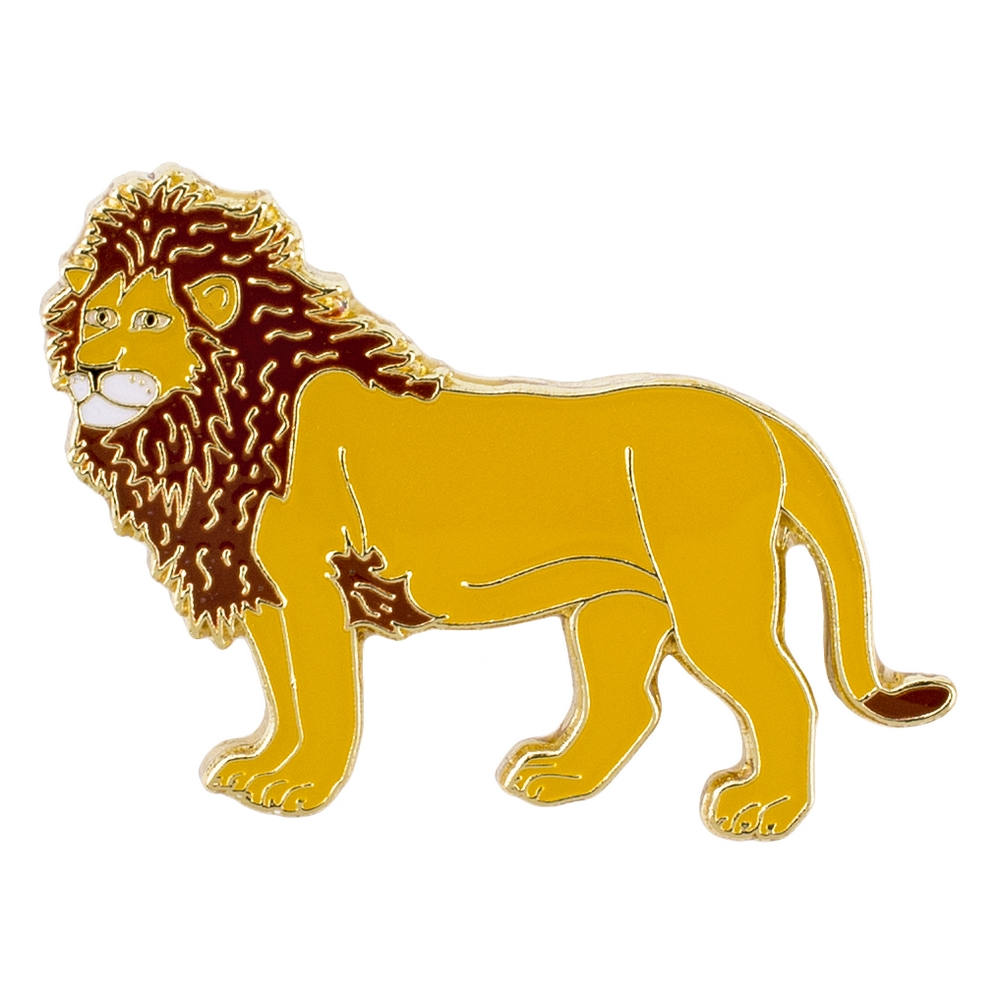 Clutch Pin Brooch Lion Made With Iron by JOE COOL