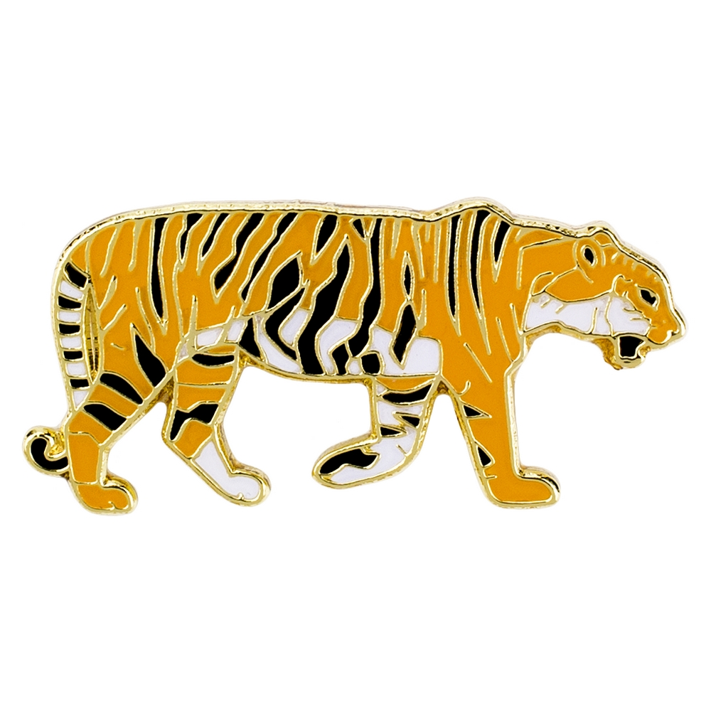 Clutch Pin Brooch Tiger Made With Iron by JOE COOL