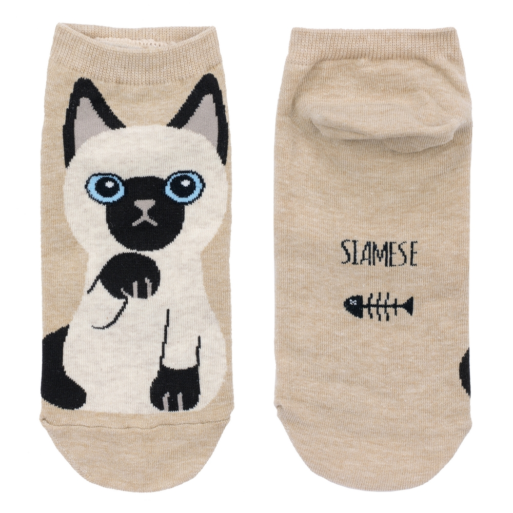 Socks Ankle Siamese Cat Made With Cotton & Spandex by JOE COOL