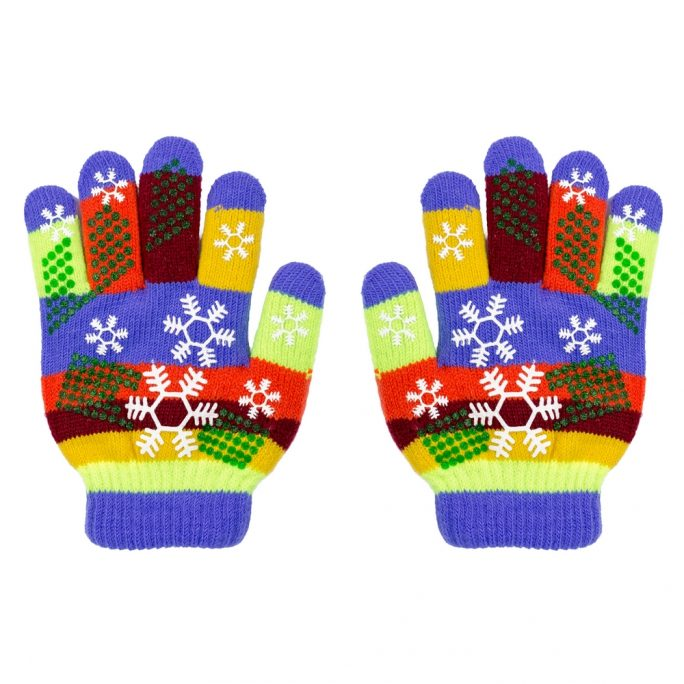 Gloves Junior Snowflake Made With Acrylic by JOE COOL