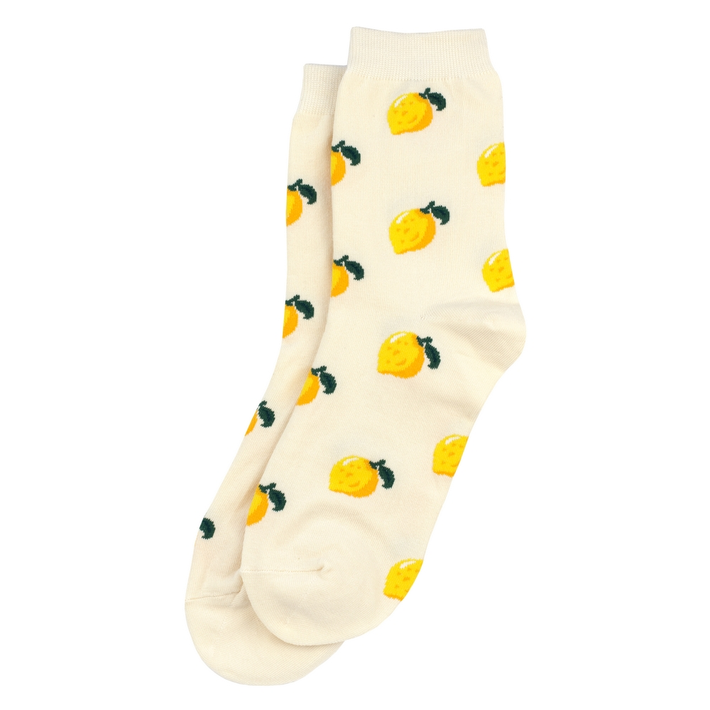Socks Lemon Print Made With Cotton & Spandex by JOE COOL