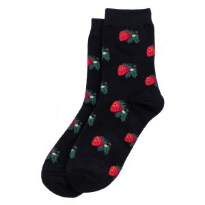 Socks Strawberry Print Made With Cotton & Spandex by JOE COOL