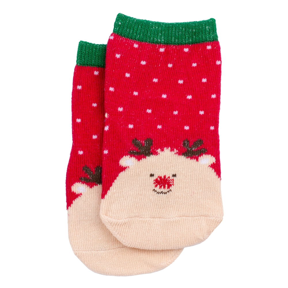 Socks Kids Rudolph 1-3 Years Made With Cotton & Spandex by JOE COOL