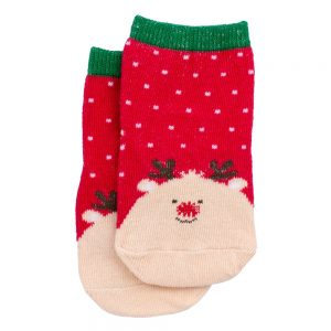 Socks Kids Rudolph 3-5 Years Made With Cotton & Spandex by JOE COOL