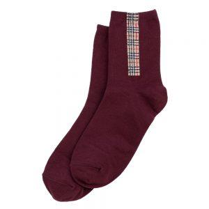 Socks Tartan Detail Made With Cotton & Spandex by JOE COOL