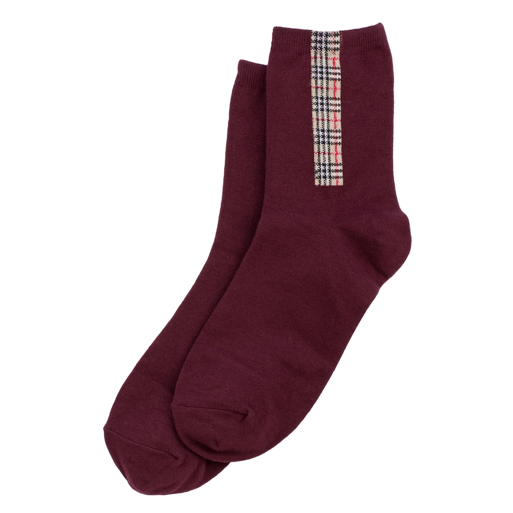Socks Tartan Detail Made With Cotton & Spandex by JOE COOL