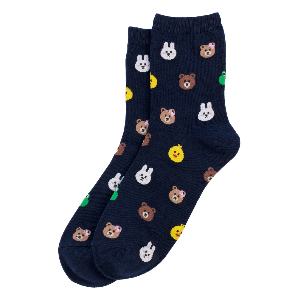 Socks Animal Menagerie Made With Cotton & Spandex by JOE COOL