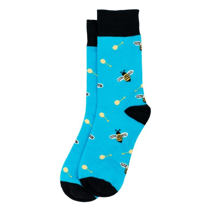 Socks Bee & Honey Spoon Made With Cotton & Spandex by JOE COOL