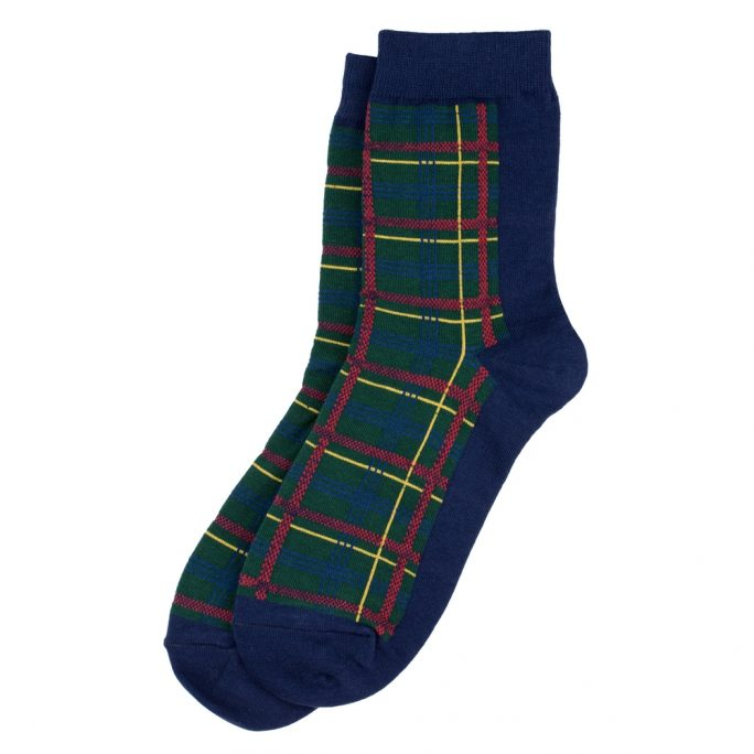 Socks Winter Tartan Check Made With Cotton & Spandex by JOE COOL