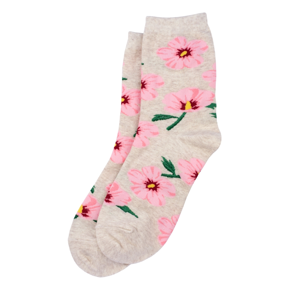 Socks Hibiscus Made With Cotton & Spandex by JOE COOL