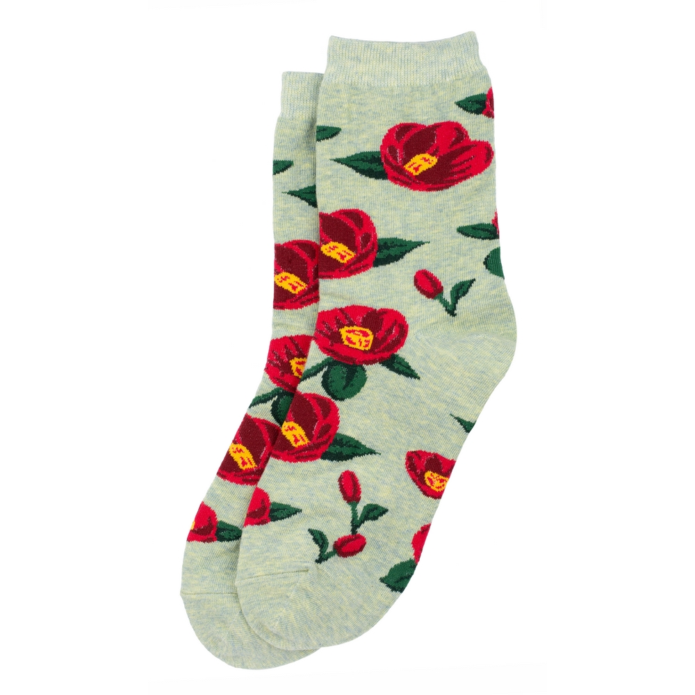 Socks Poppy Anemone Made With Cotton & Spandex by JOE COOL