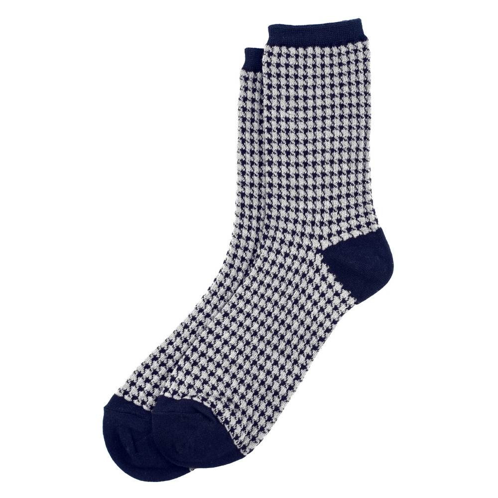 Socks Houndstooth Made With Cotton & Spandex by JOE COOL