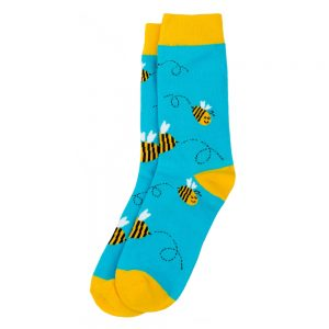 Socks Cute Bee Made With Cotton & Spandex by JOE COOL