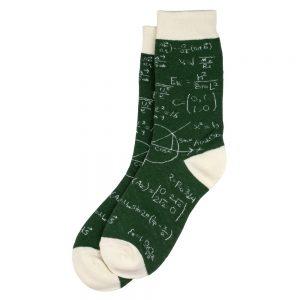 Socks Blackboard Mathematics Made With Cotton & Spandex by JOE COOL