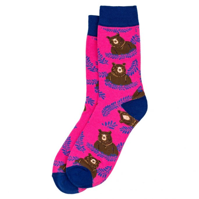 Socks Bear Made With Cotton & Spandex by JOE COOL