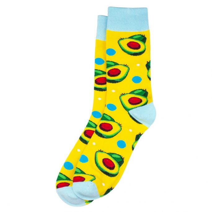 Socks Avocado Halves Made With Cotton & Spandex by JOE COOL