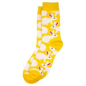 Socks Sunshine Bunnies Made With Cotton & Spandex by JOE COOL