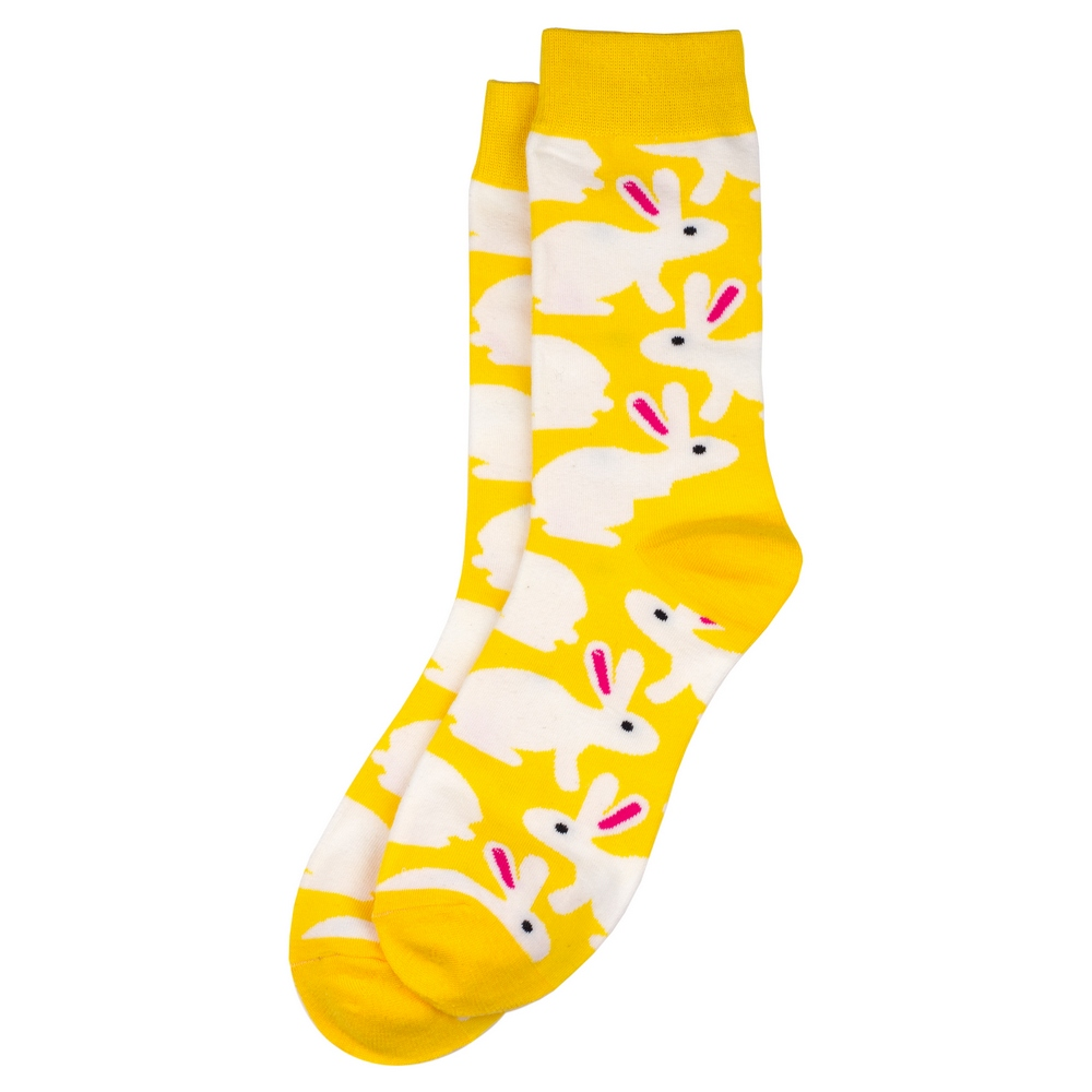Socks Sunshine Bunnies Made With Cotton & Spandex by JOE COOL