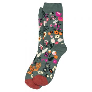 Socks Meadow Flowers Made With Cotton & Spandex by JOE COOL