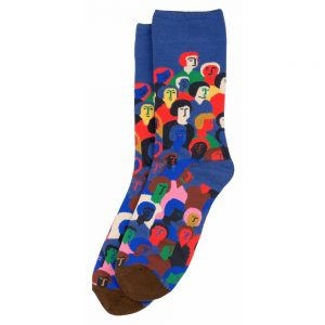 Socks Crowded People Made With Cotton & Spandex by JOE COOL